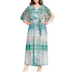 CITY CHIC BELLA PRINT CHIFFON MAXI DRESS 🛍💝